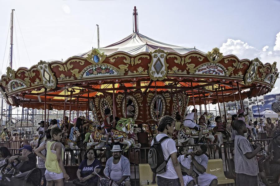 Carousel 2013 - Coney Island - Brooklyn - New York by Madeline Ellis