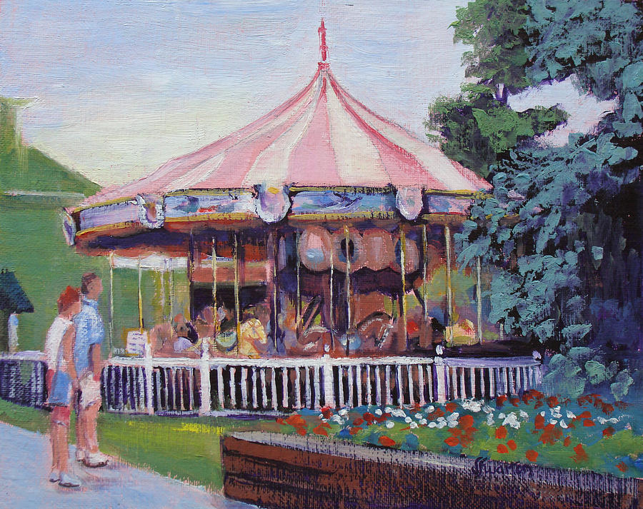 Carousel Painting - Carousel At Put-in-bay by Judy Fischer Walton