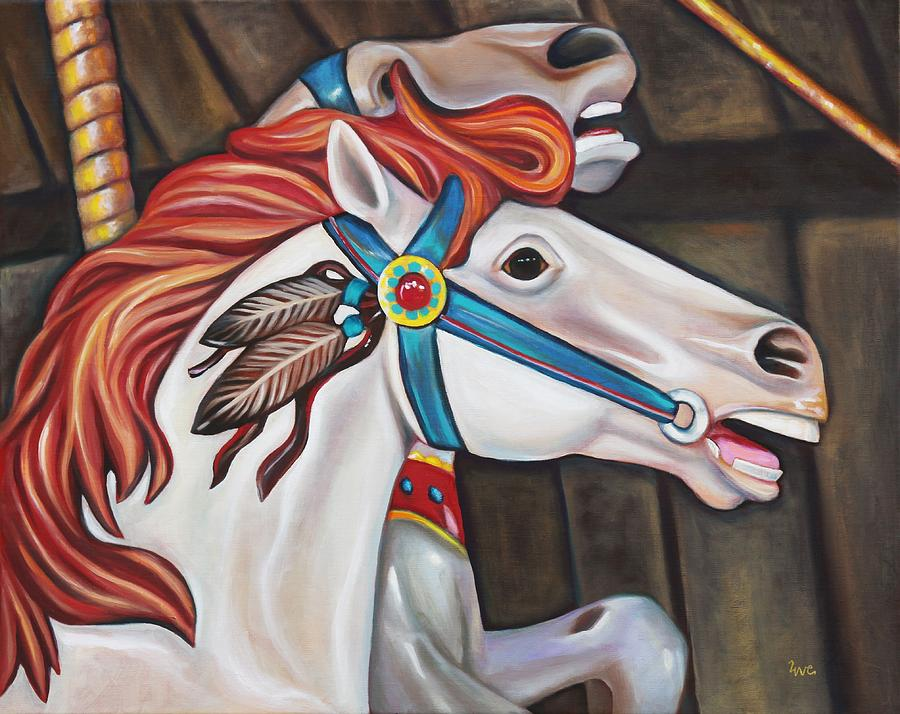 Merry-go-round Painting - Carousel Chief by Eve  Wheeler