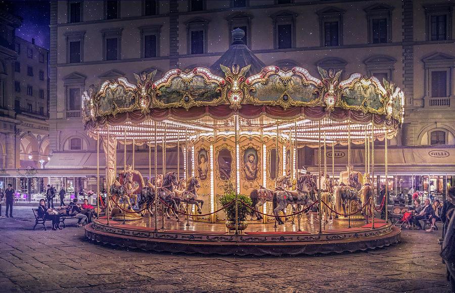 Carousel Photograph - Carousel by Christian Marcel