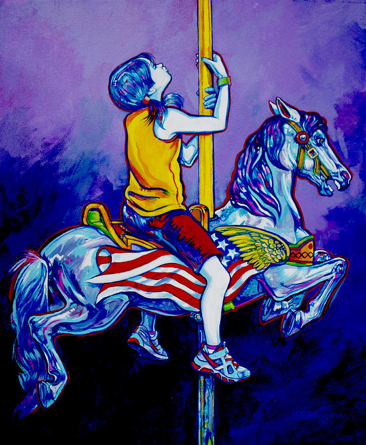 Carousel Painting - Carousel by Derrick Higgins