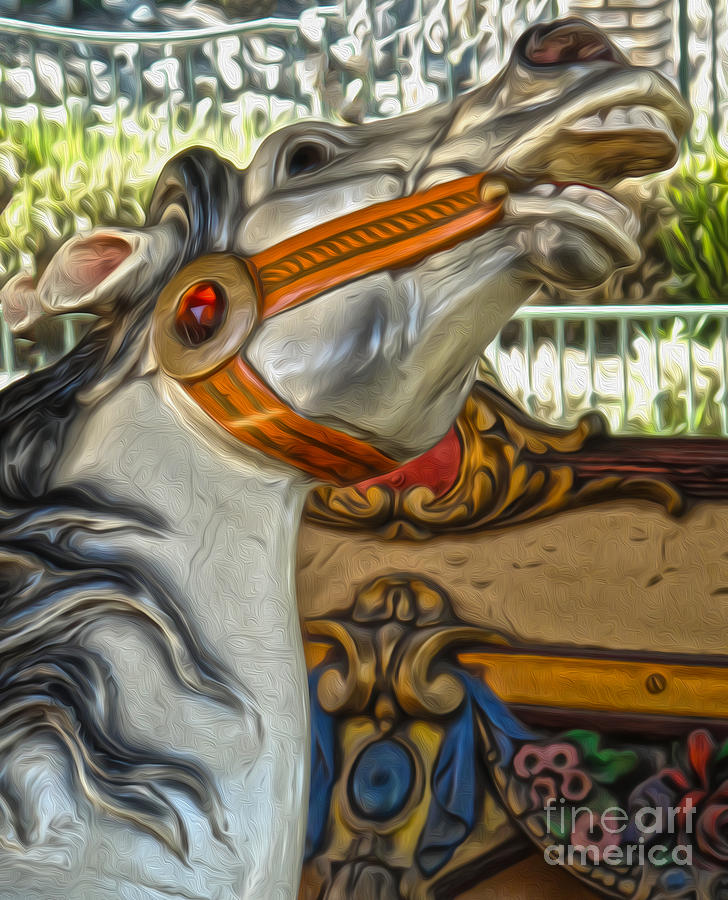 Carousel Horse Photograph - Carousel Horse - 01 by Gregory Dyer
