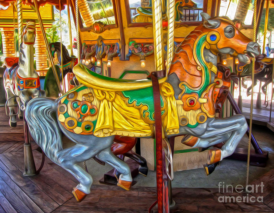 Carousel Horse Photograph - Carousel Horse - 03 by Gregory Dyer