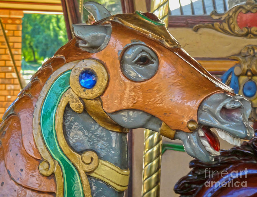 Carousel Horse Photograph - Carousel Horse - 04 by Gregory Dyer