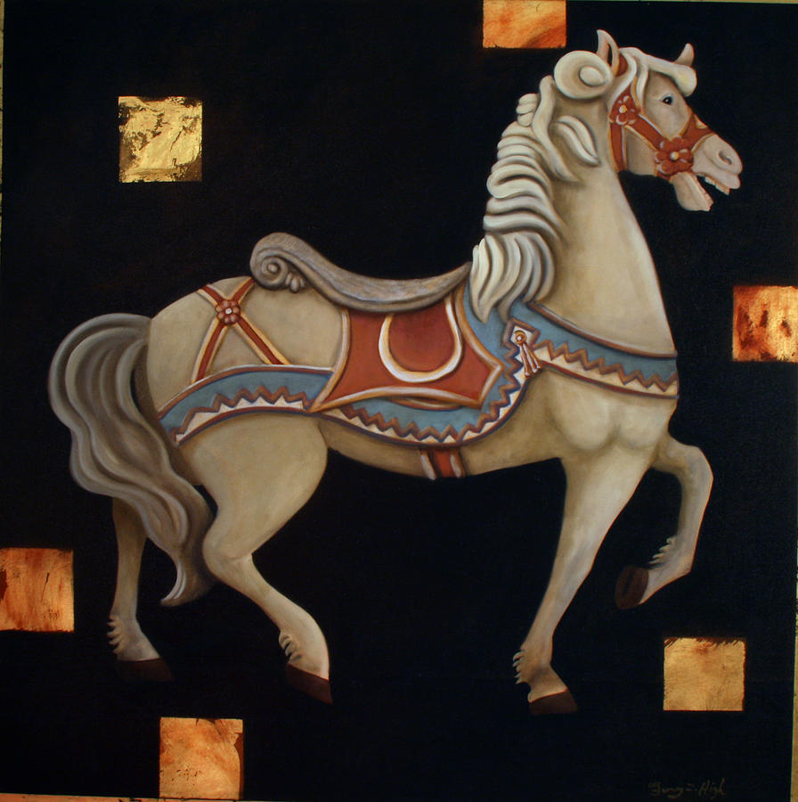 Carousel Horse Painting - Carousel Horse by Gerry High