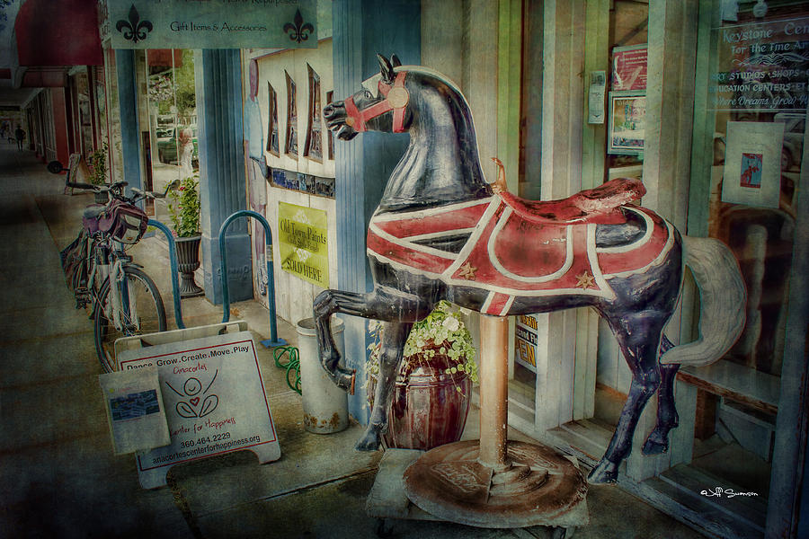 Carousel Horse Photograph - Carousel Hourse by Jeff Swanson