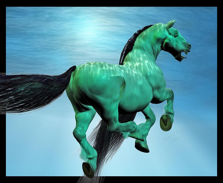 Horse Digital Art - Carousel Iv by Betsy Knapp