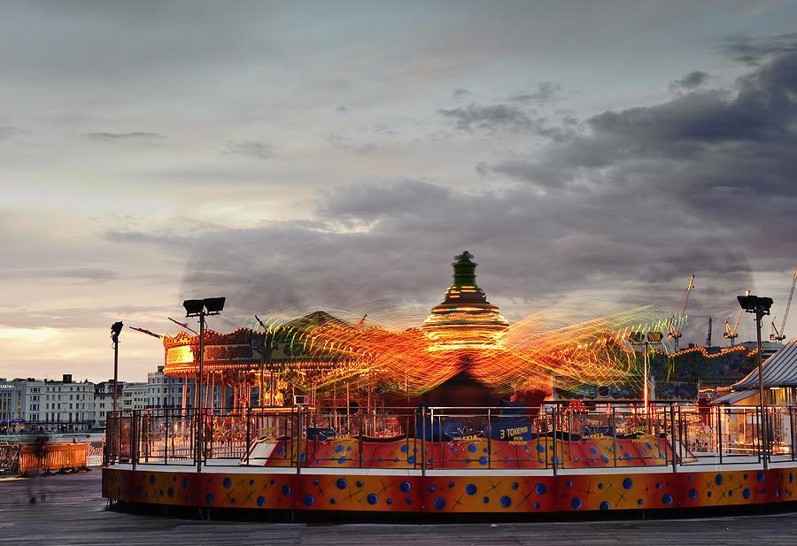 Fun Fair Photograph - Carousel by Matthew Gibson