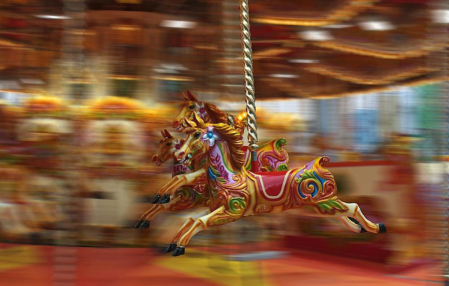 Carousel Photograph by Peter Skelton