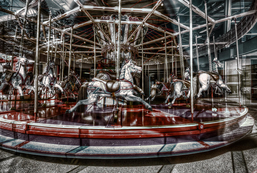 Carousel Photograph - Carousel by Wayne Sherriff