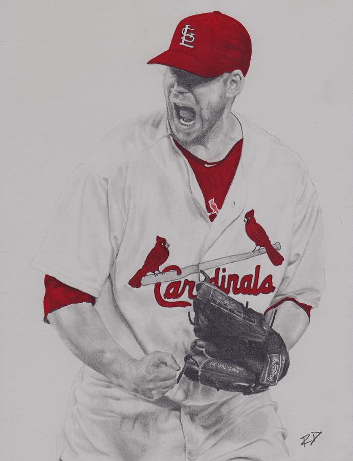 Baseball Drawing - Carp by Robbie Douglas