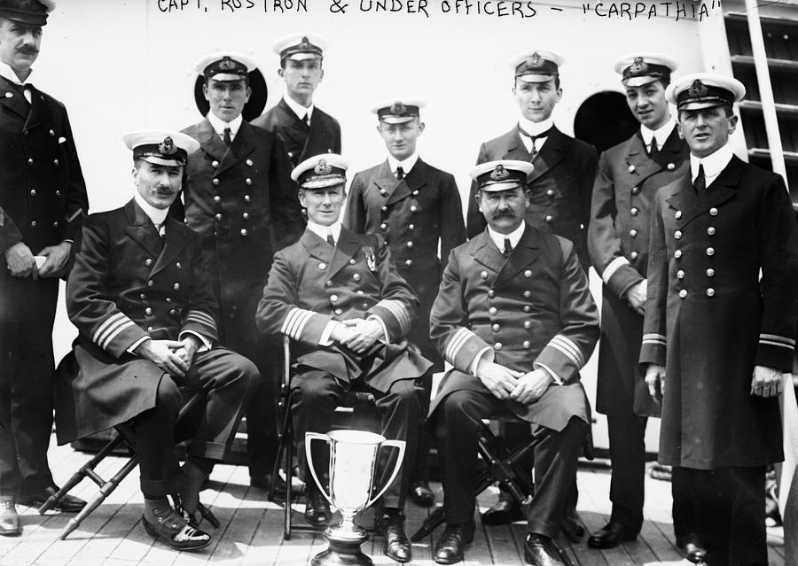 1912 Photograph - Carpathia Crew, 1912 by Granger