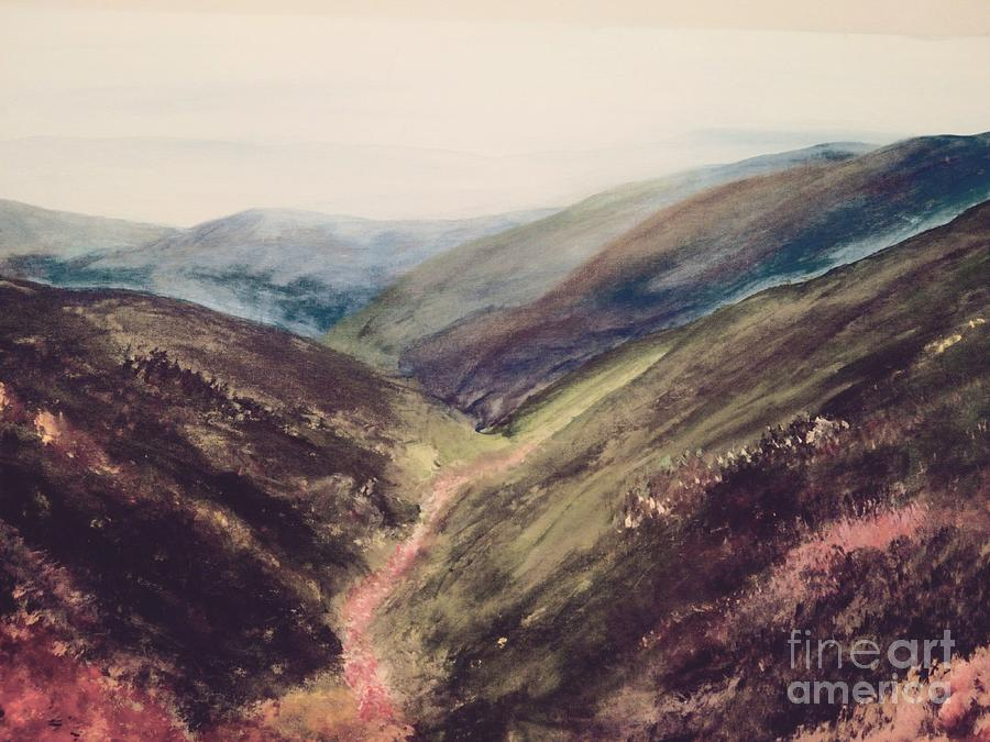 Carpathian Painting - Carpathian Valleys by Trilby Cole