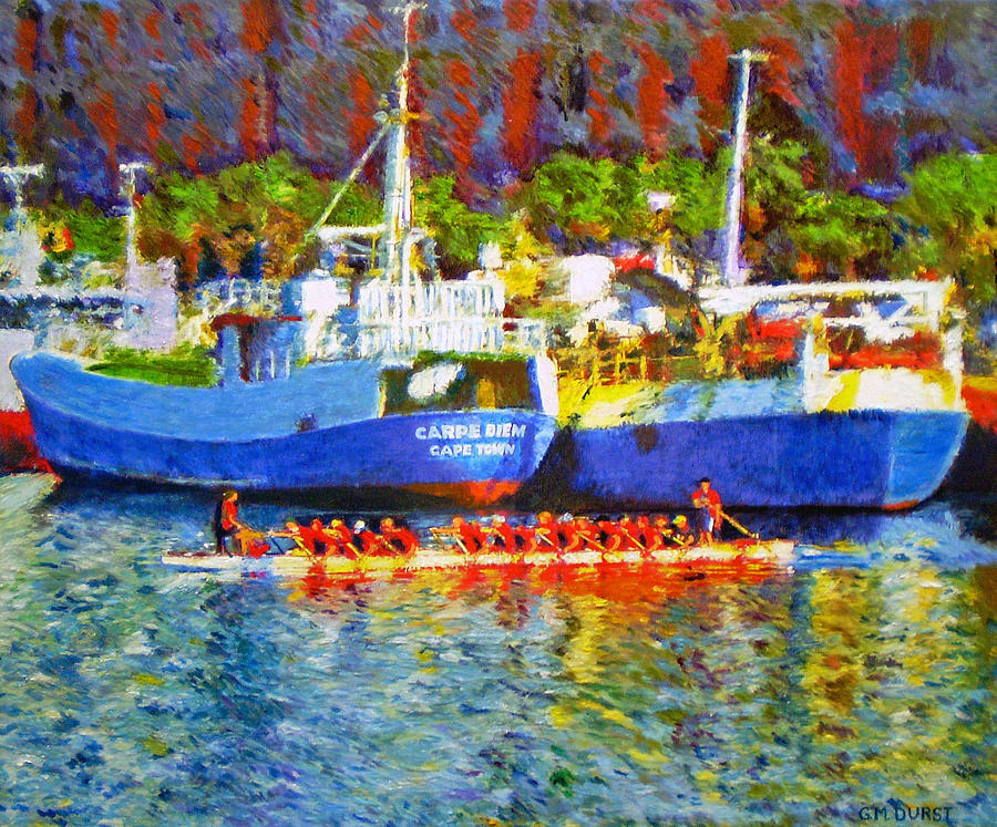Boat Painting - Carpe Diem by Michael Durst