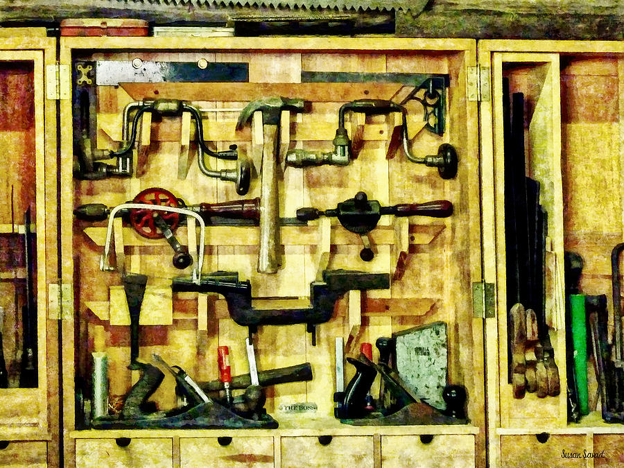 Hammer Photograph - Carpenter - Woodworking Tools by Susan Savad