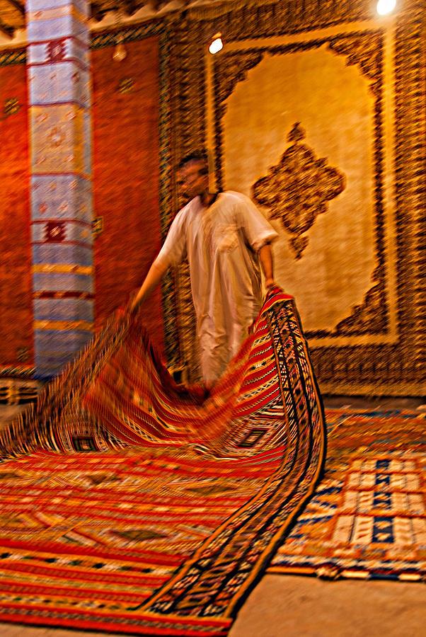 Carpet workshop near Ouarzazate in Morocco by Ellie Perla
