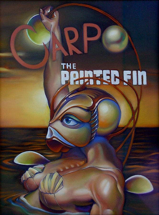 Mermaid Painting - Carpo In The Painted Fin by Patrick Anthony Pierson