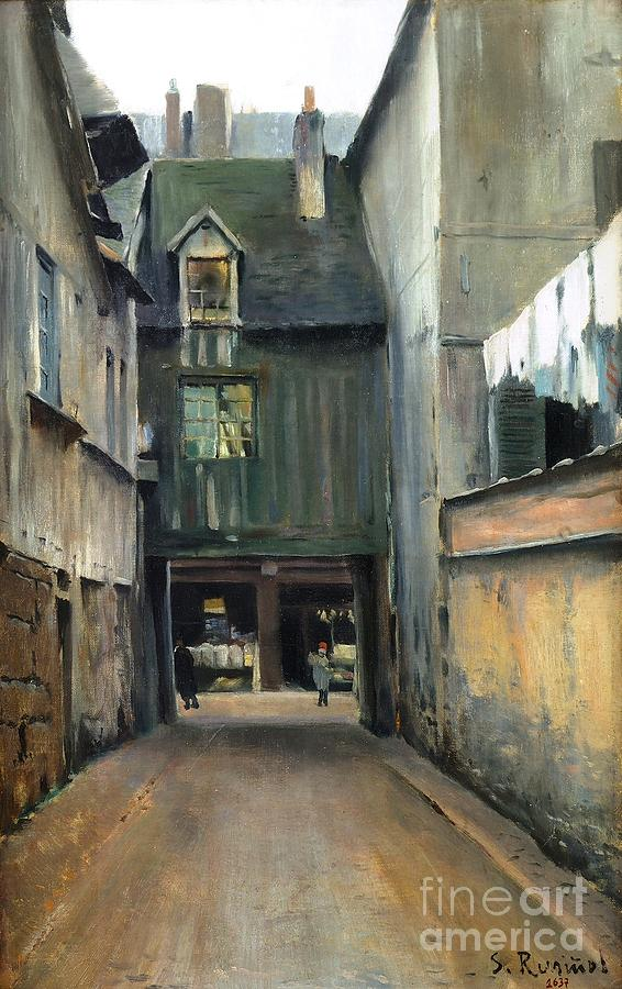 Reproduction Painting - Carrer De Rouen by Roberto Prusso