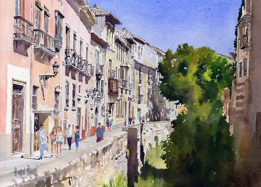 Watercolour Painting - Carrera Del Darro by Margaret Merry