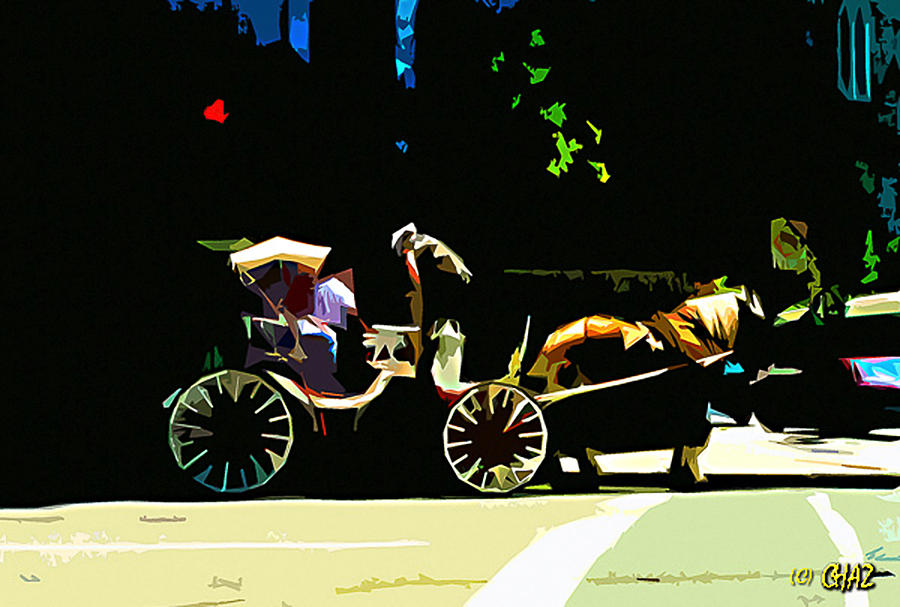 Transportation Painting - Carriage Ride by CHAZ Daugherty