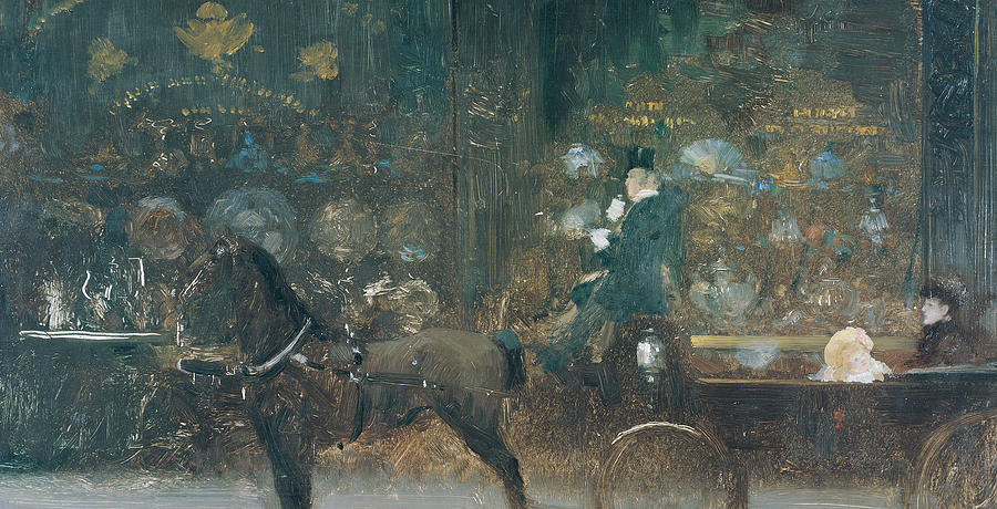 Horse Painting - Carriage Ride by Giuseppe De Nittis
