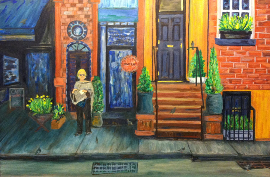 Carrie Downtown Shopping Painting By Joe Ballone