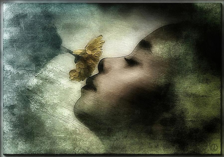 Girl Digital Art - Carried Away By A Scent by Gun Legler