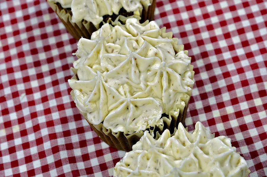 Baking Photograph - Carrot Cupcakes by Susan Leggett