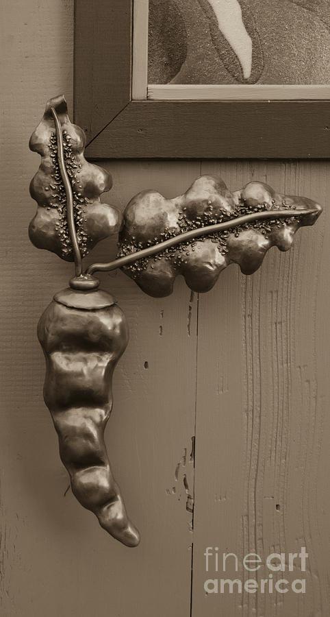 Carrot door handle Heidi Erickson sculpture by Kathi Shotwell