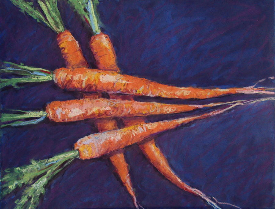 Carrots Painting - Carrot Stack by Kelley Smith
