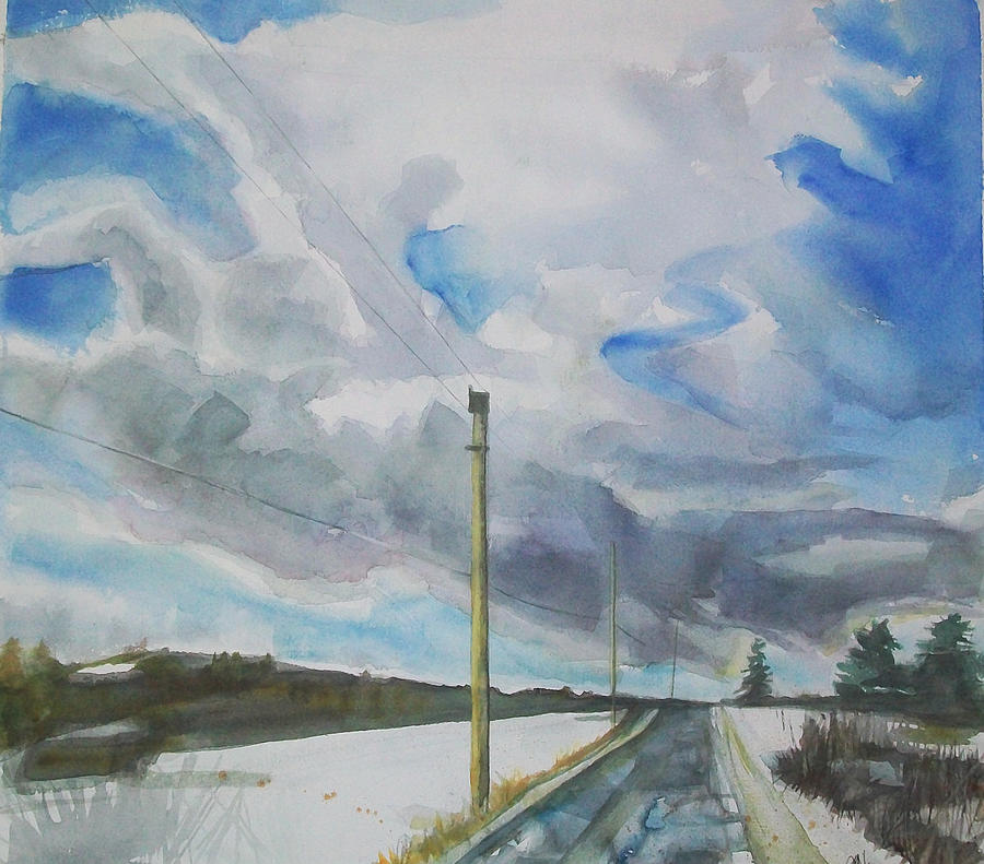 Maine Landscape Painting - Carry On by Grace Keown
