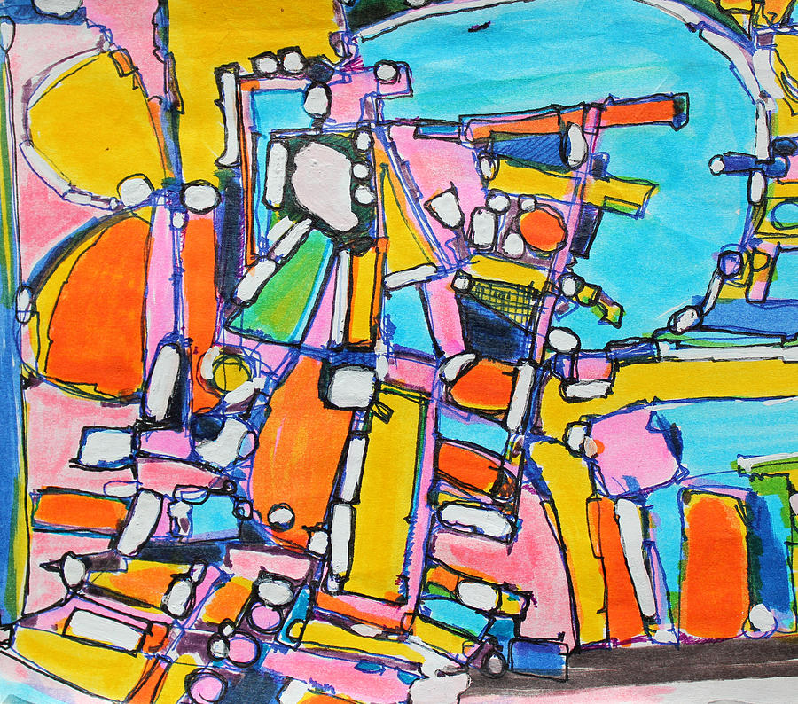 Abstract Painting Painting - Carry Your Own Joy by Hari Thomas