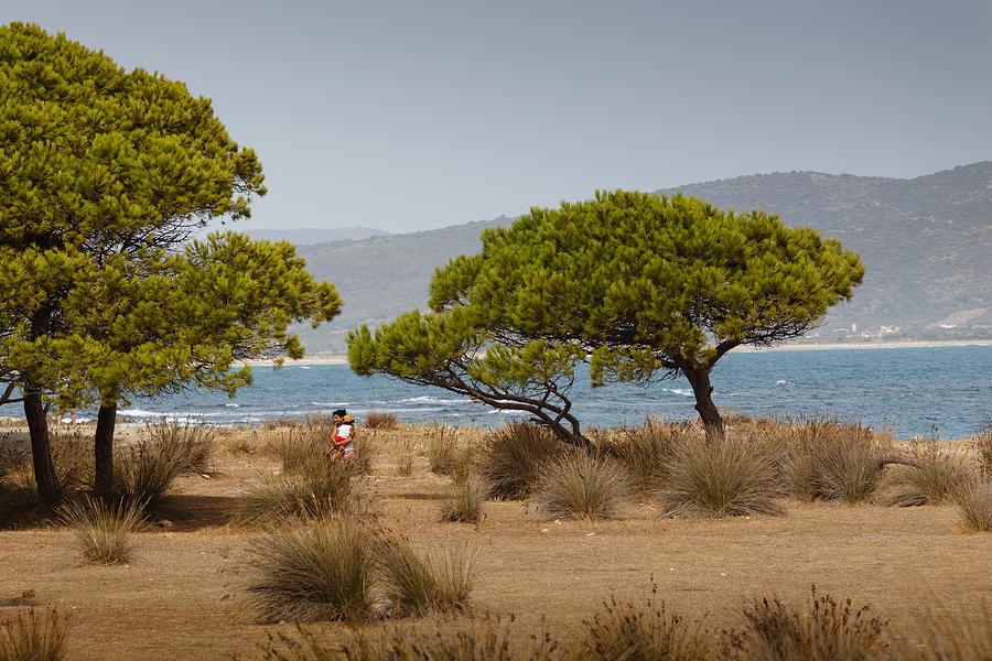 Sardinia Photograph - Carrying Her Child by Paul Indigo