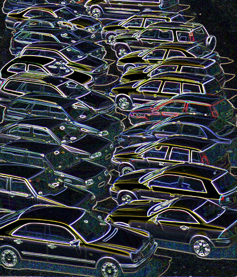 Cars Photograph - Cars In A Car Park by Sheila Terry/science Photo Library