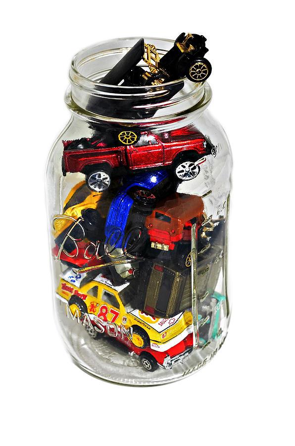 Cars Photograph - Cars In A Jar by Susan Leggett