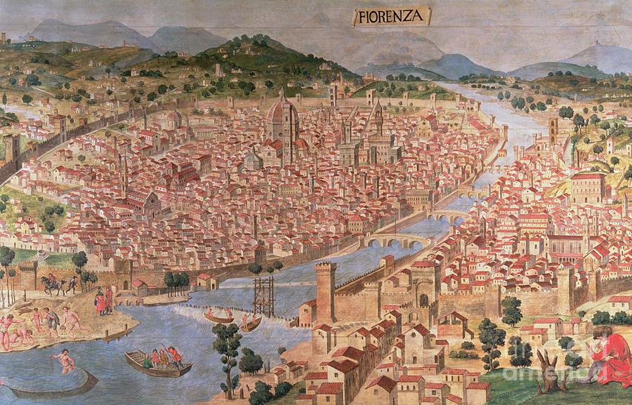 16th Painting - Carta Della Catena by Italian School