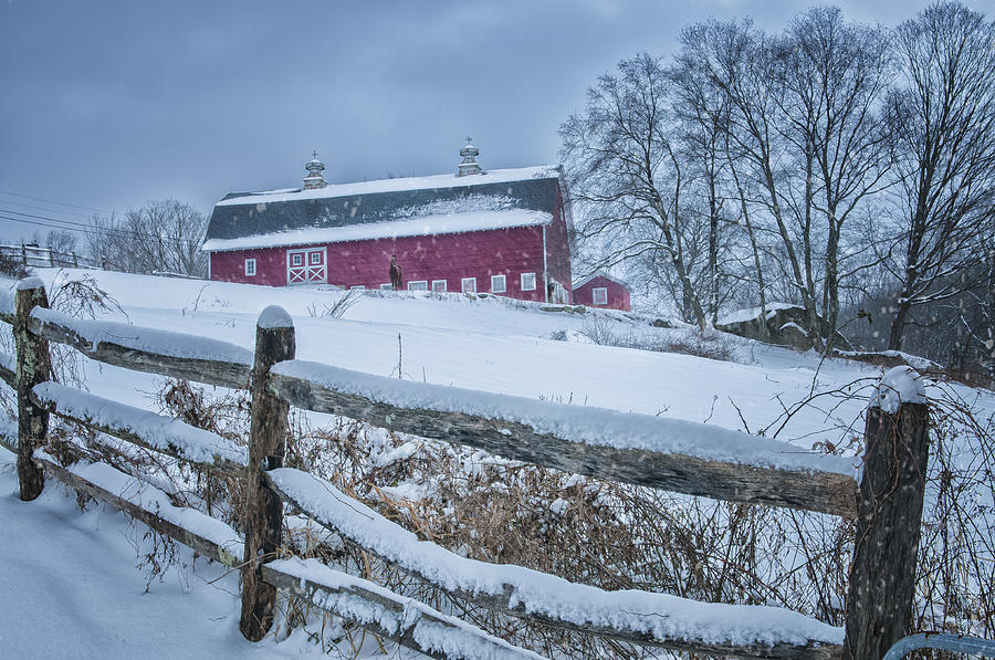 Farmscapes Photograph - Carter Farm - Litchfield Hills Winter Scene by Expressive Landscapes Fine Art Photography by Thom