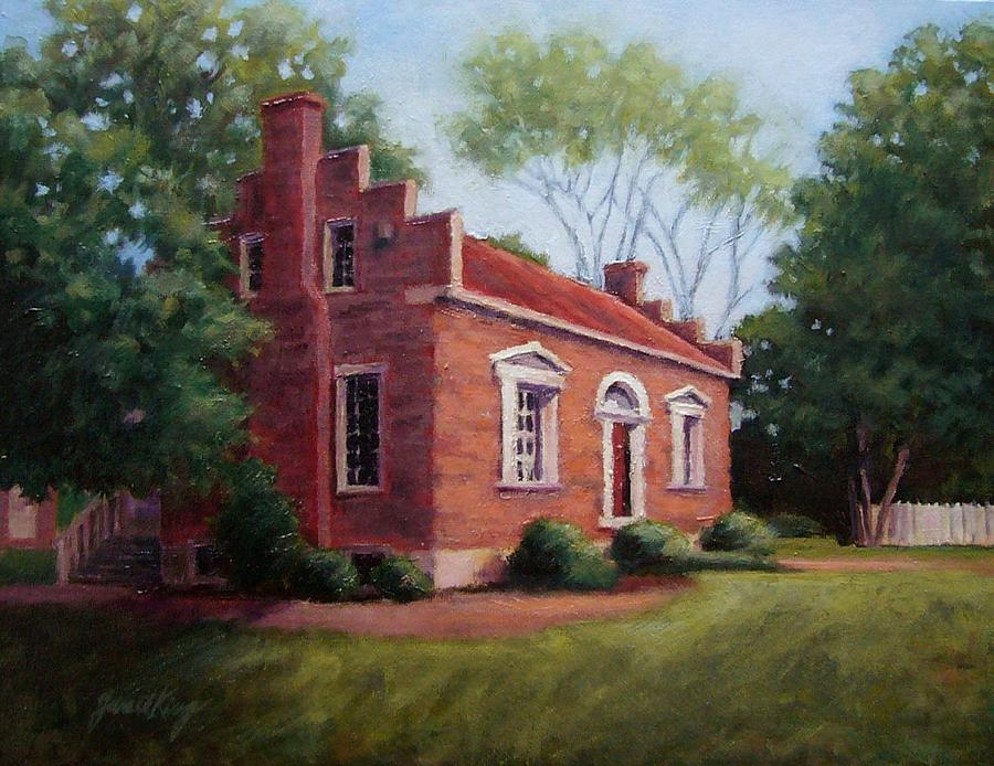 Carter House Painting - Carter House In Franklin Tennessee by Janet King