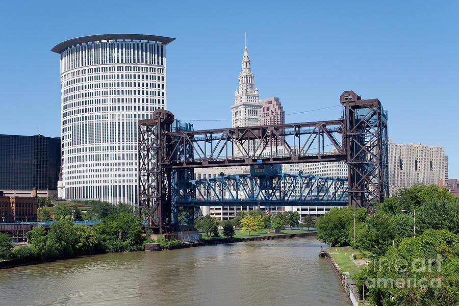 Cleveland Photograph - Carter Road Lift Bridge by Bill Cobb