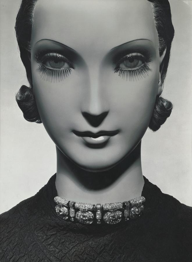 Cartier Jewelry On A Mannequin Photograph by George Hoyningen-Huene