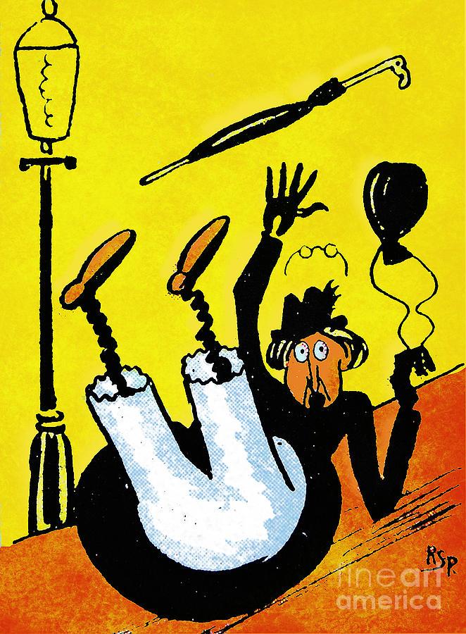Artist Painting - Cartoon 07 by Svetlana Sewell