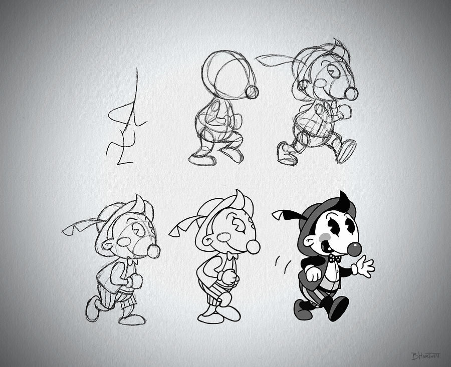 Cartoon Character Step by Step by Ben Hartnett