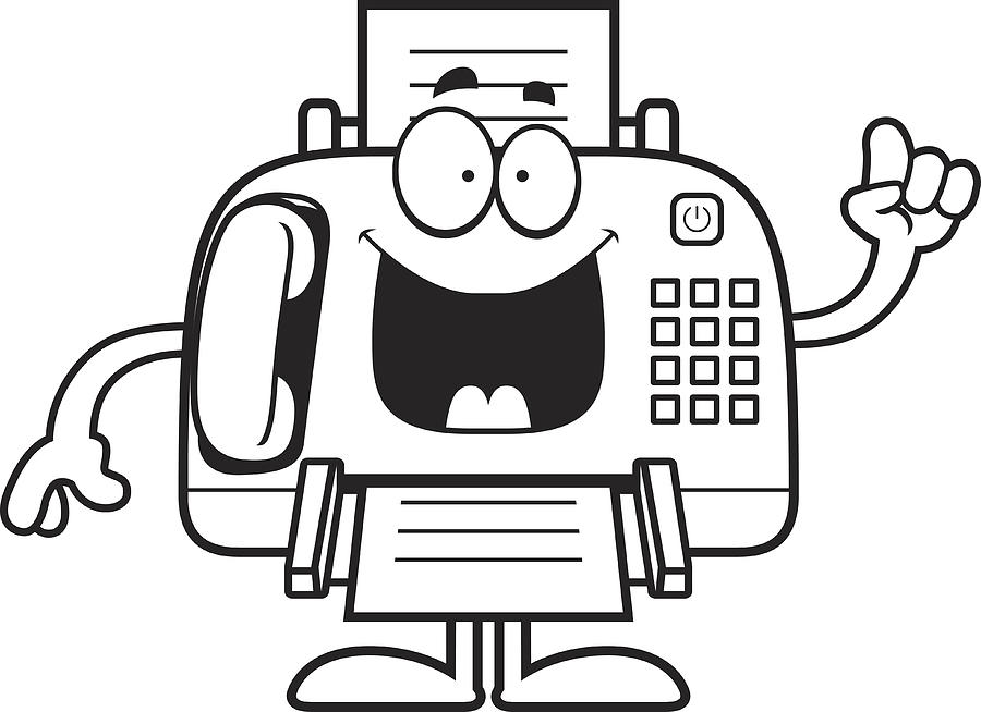 Cartoon Fax Machine Idea By Cthoman