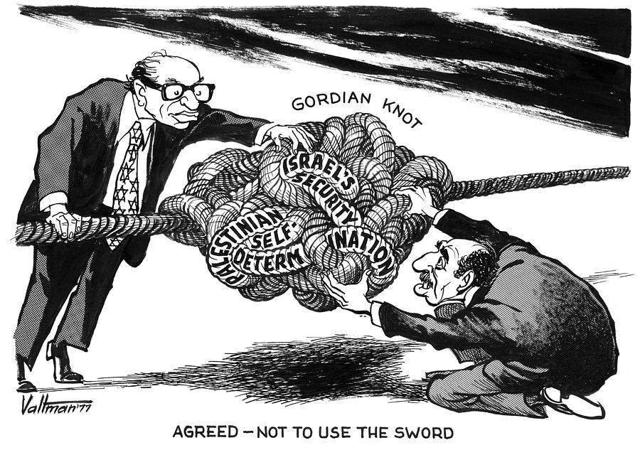 1977 Drawing - Gordian Knot, 1977 by Edmund Valtman
