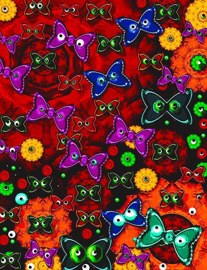 Landscape Mixed Media - Cartoon In Happy Style Pop Art by Pepita Selles