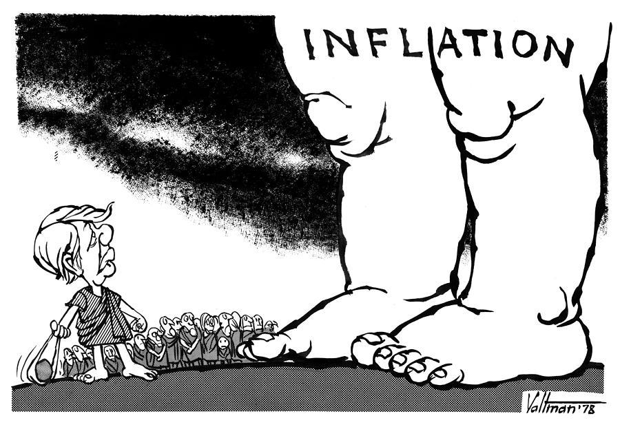 1978 Drawing - Inflation, 1978 by Edmund Valtman