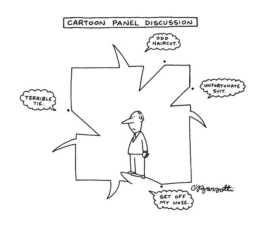 Cartoon Panel Discussion Drawing by Charles Barsotti