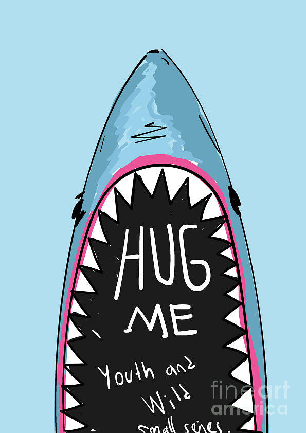 Cartoon Shark For Kids Clothing Digital Art By Yusuf Doganay