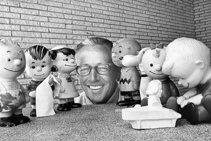 Cartoonist Charles Schultz by Underwood Archives
