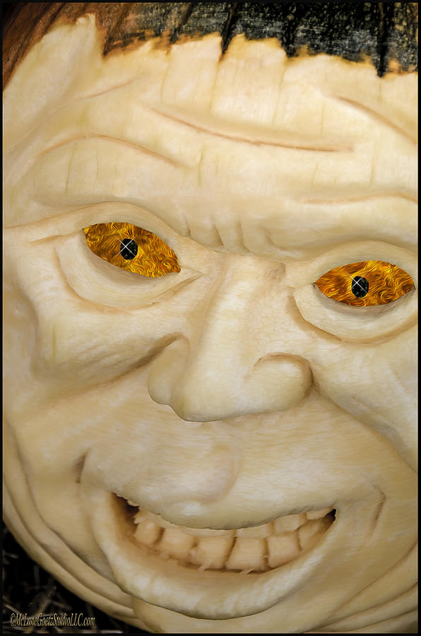 Holiday Photograph - Carved Pumpkin Face by LeeAnn McLaneGoetz McLaneGoetzStudioLLCcom